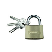 Syneco Solid Brass Padlock - 40mm