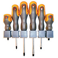Craftrogjt Soft Grip Screwdriver Set - 6 Piece
