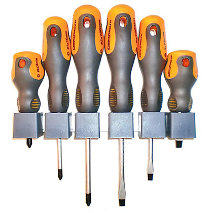 Image for Craftrogjt Soft Grip Screwdriver Set - 6 Piece from StoreName