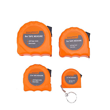 Image for Craftright Tape Measure Set - 4 Piece from StoreName