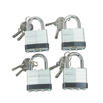 Image for 4 Piece Laminated Steel Padlock Set from StoreName
