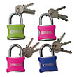 Syneco Coloured Padlocks - 4 Pack