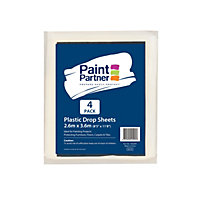Paint Partner Plastic Drop Sheet 2.6m x 3.6m - 4 Pack