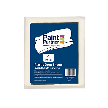 Image for Paint Partner Plastic Drop Sheet 2.6m x 3.6m - 4 Pack from StoreName