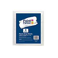 Paint Partner Plastic Drop Sheet 2.6m x 3.6m - 8 Pack