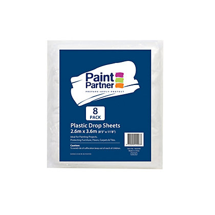 Image for Paint Partner Plastic Drop Sheet 2.6m x 3.6m - 8 Pack from StoreName