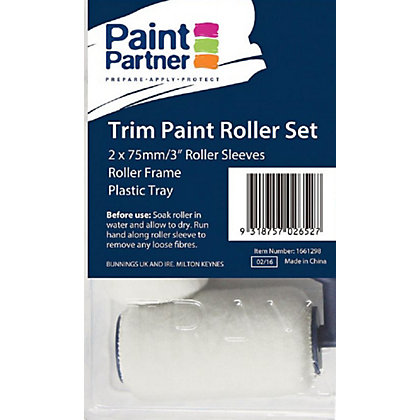 Paint partner 4 piece trim paint roller set 75mm Interior trim paint calculator