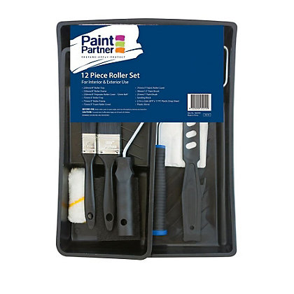 Image for Paint Partner 12 Piece Roller and Brush Set from StoreName