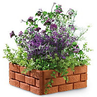 Garden Edging Brick Effect - Orange