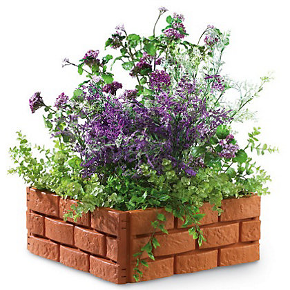 Image for Garden Edging Brick Effect - Orange from StoreName