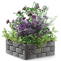 Garden Edging Brick Effect - Grey
