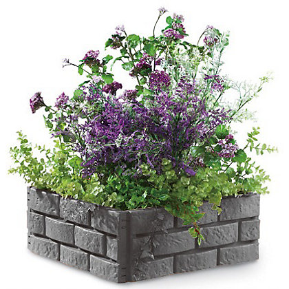 Image for Garden Edging Brick Effect - Grey from StoreName