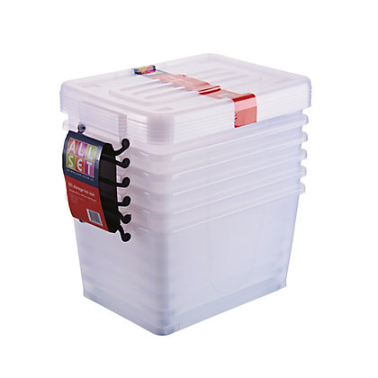 Image for All Set 27L Storage Box with Wheels - 6 Pack from StoreName