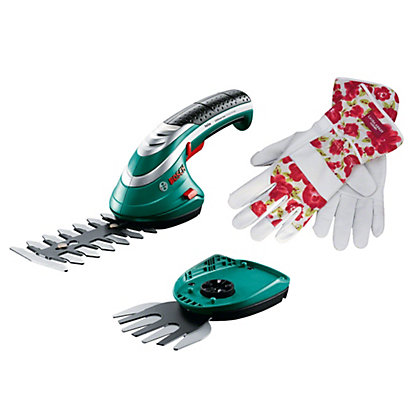 Image for Bosch Isio III Shape and Edge Shear and Laura Ashley Gardening Gloves from StoreName