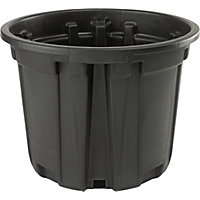 Plastic Plant Pot in Black - 46cm
