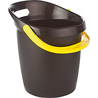 13L Plastic Bucket Grip Easy - Black