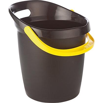 Image for 13L Plastic Bucket Grip Easy - Black from StoreName