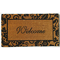 Vinyl Backed Coir Doormat - Welcome