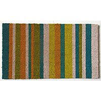 Vinyl Backed Coir Doormat - Lines