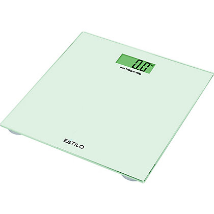 Image for Estilo Glass Digital Bathroom Scales - White from StoreName