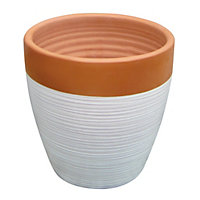 Solstice Small Pot - Terracotta & Cream