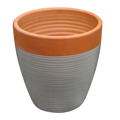 Image for Solstice Small Pot - Terracotta & Grey from StoreName