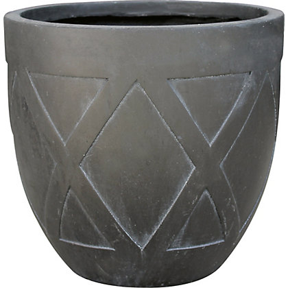 Image for Oblik Large Plant Pot - Charcoal from StoreName