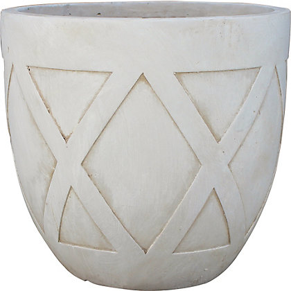 Image for Oblik Large Plant Pot - Stone from StoreName