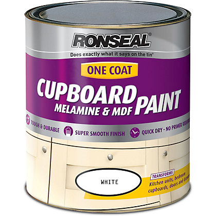 Image for Ronseal Pure Brilliant White - One Coat Cupboard Gloss Paint - 750ml from StoreName