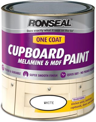 Ronseal Pure Brilliant White - One Coat Cupboard Gloss Paint - 750ml