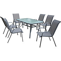 Sling Back 6 Seater Garden Furniture Set