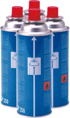 Image of Campingaz CP250 Resealable Gas Cartridge - 4 Pack.