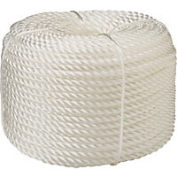 50m Polypropylene Rope - White
