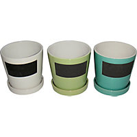 Ceramic Pot with Chalk Board - Small