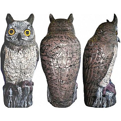 Image for Brown Owl Garden Ornament and Bird Scarer from StoreName