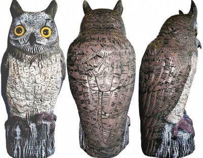 Brown Owl Garden Ornament and Bird Scarer