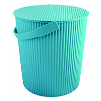 19L Round Crinkle Bucket with Lid