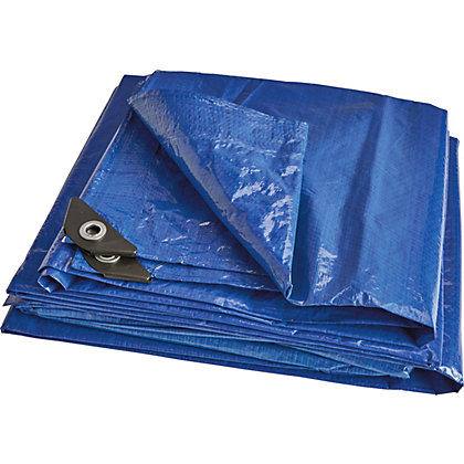 Image for Blue Tarpaulin - Pack of 2 - 1.8 x 2.4m & 3.0 x 3.6m from StoreName