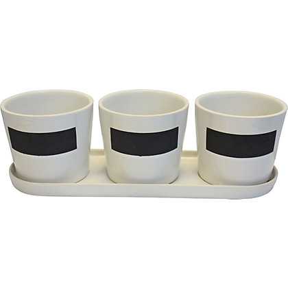 Image for Lotus Set of 3 Herb Pots from StoreName