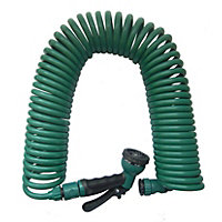 Aqua Systems Garden Hose with Multi-Function Spray Gun - 15m