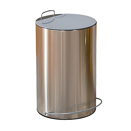 Image for Metal Waste Bin - 13L - Silver and Grey from StoreName