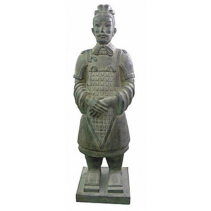 Image for Chinese Warrior Garden Statue in Terracotta from StoreName
