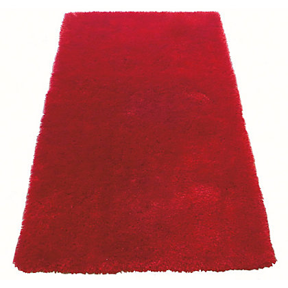 Image for Luer Shaggy Rug 150 X 80cm - Burgundy from StoreName