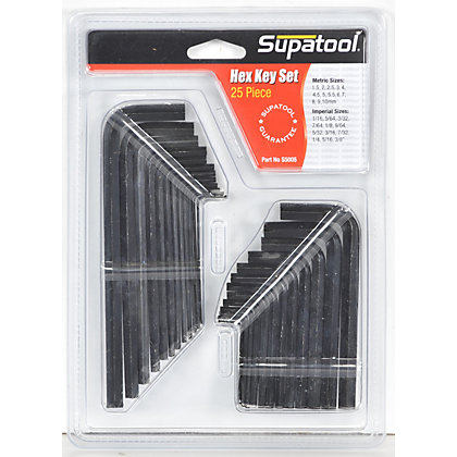 Image for Supatool Hex Key Set - 25 Piece from StoreName