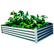 The Organic Garden Co Rectangle Raised Garden Bed - Zinc