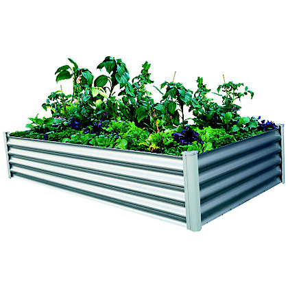 Image for The Organic Garden Co Rectangle Raised Garden Bed - Zinc from StoreName