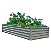 The Organic Garden Co Rectangle Raised Garden Bed - Grey
