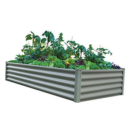 Image for The Organic Garden Co Rectangle Raised Garden Bed - Grey from StoreName