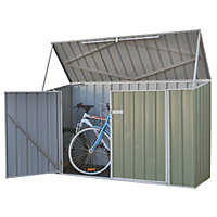 Absco Metal Bike Shed - Eucalyptus