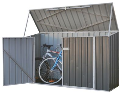 Absco Metal Bike Shed - Grey